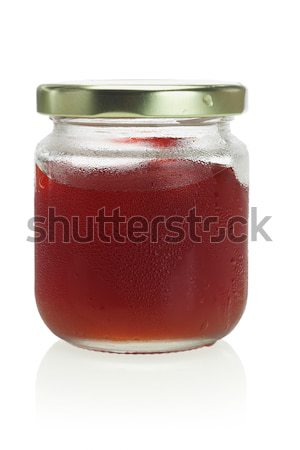 Cold and moist jar of mixed fruit jam Stock photo © dezign56