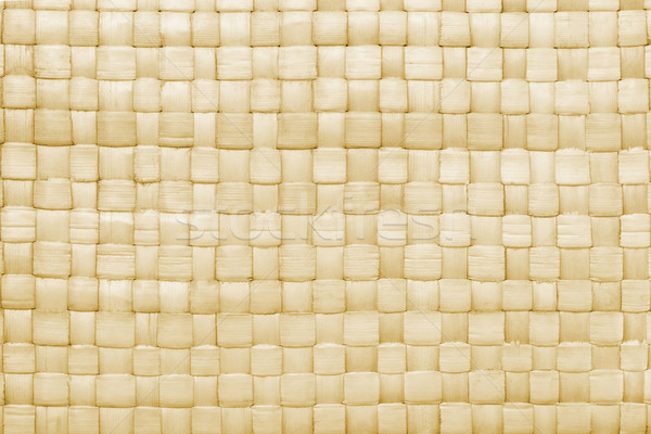 Woven palm leaves mat background Stock photo © dezign56
