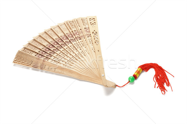 Chinese wooden folding fan Stock photo © dezign56