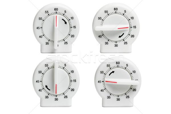 Four kitchen timers Stock photo © dezign56