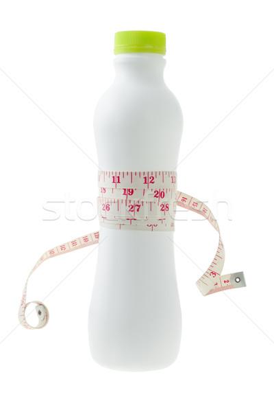 şerit metre süt şişe beyaz Stok fotoğraf © dezign56