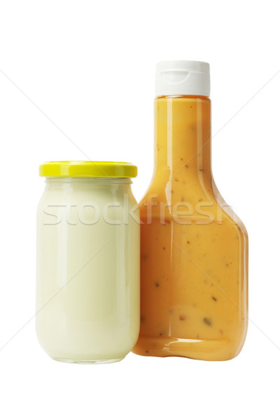 Mayonnaise and Thousand Island Dressing in Glass Bottles Stock photo © dezign56