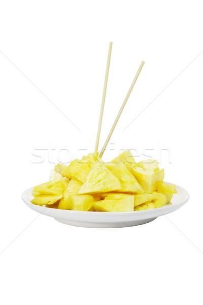 Cut ананаса Ломтики сочный Сток-фото © dezign56