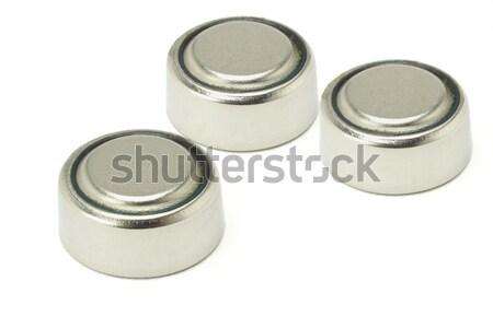 Três lítio isolado branco metal Foto stock © dezign56
