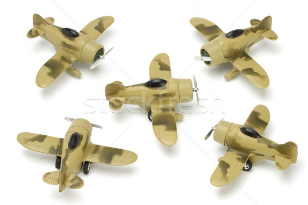 Five toy aircrafts Stock photo © dezign56