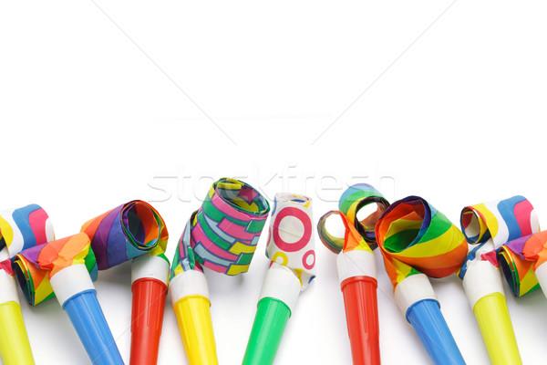 Kleurrijk partij grens exemplaar ruimte frame leuk Stockfoto © dezign56