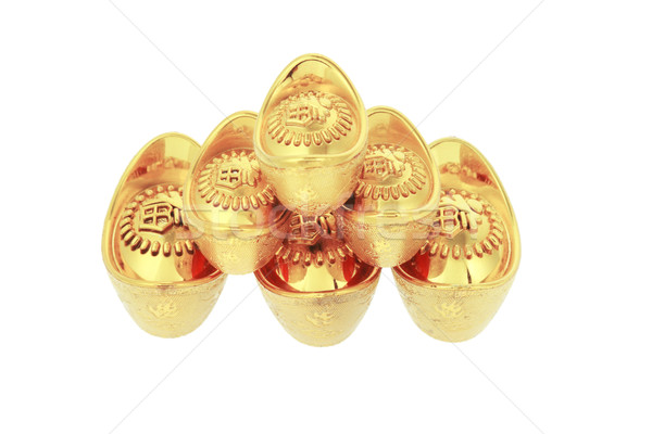 Chinese new year gold ingots Stock photo © dezign56
