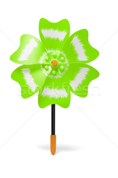 Yellow plastic toy windmill Stock photo © dezign56