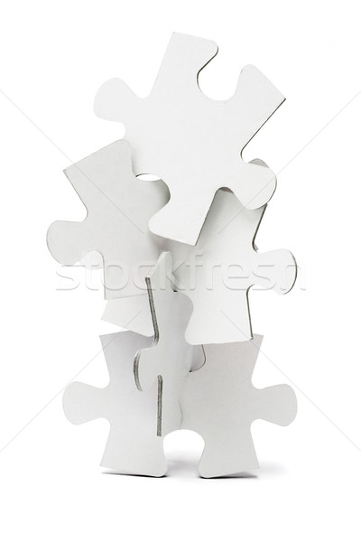 Jigsaw puzzles tower Stock photo © dezign56