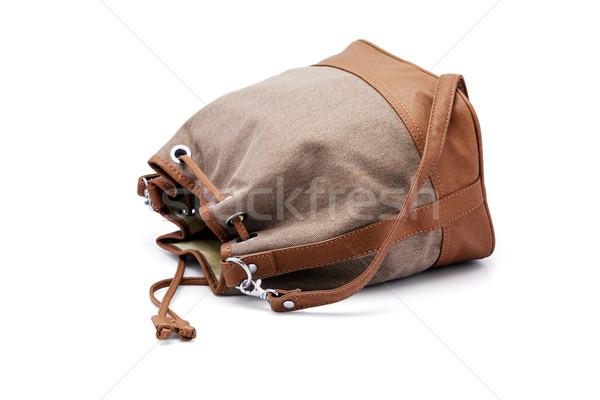 Csúzli táska zöld hölgy nő divat Stock fotó © dezign56
