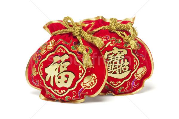 Китайский Новый год подарок мешки два белый цвета Сток-фото © dezign56