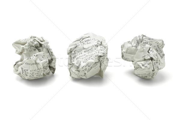 Atık kâğıt üç beyaz çöp Stok fotoğraf © dezign56