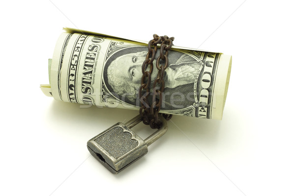 US dollars notes chained and locked - safe and secure Stock photo © dezign56
