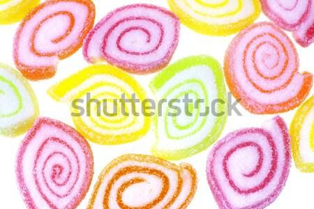 Cukorka csíkos fehér háttér csoport minta Stock fotó © dezign56