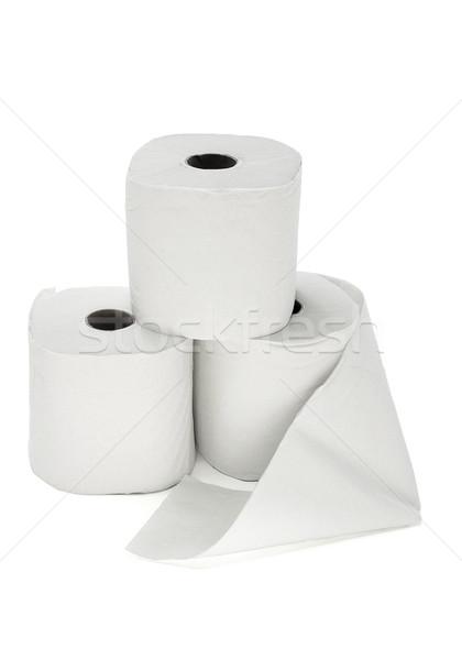 Tre WC carta gruppo clean Foto d'archivio © dezign56