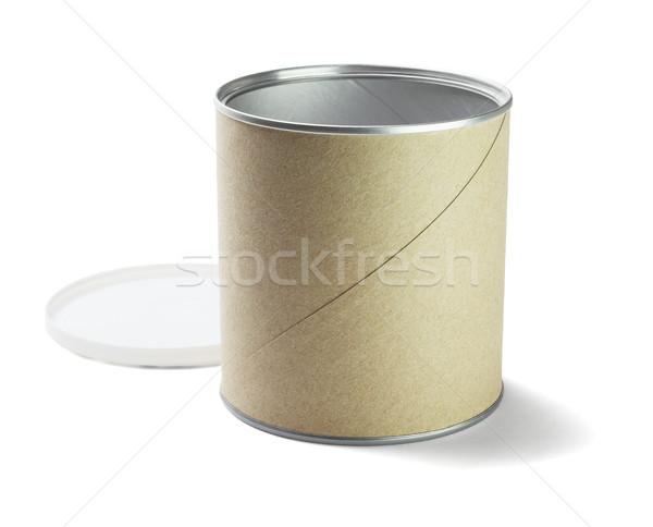 Nyitva karton konténer fehér textúra terv Stock fotó © dezign56