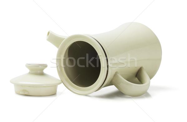 Porcellana caffè pot colore oggetto vuota Foto d'archivio © dezign56