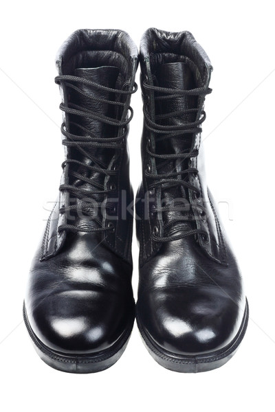 Black Leather Boots  Stock photo © dezign56