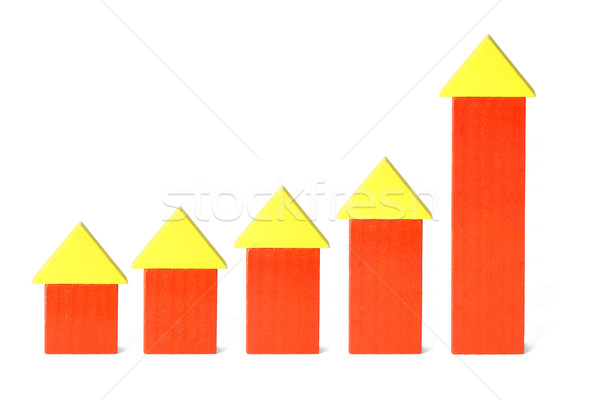 Rising trend of construction industry Stock photo © dezign56