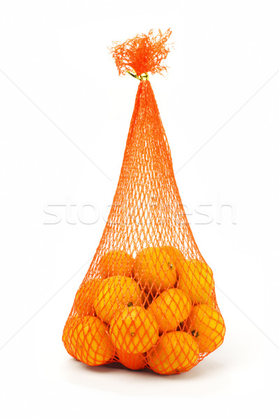 Sack of mandarin oranges  Stock photo © dezign56