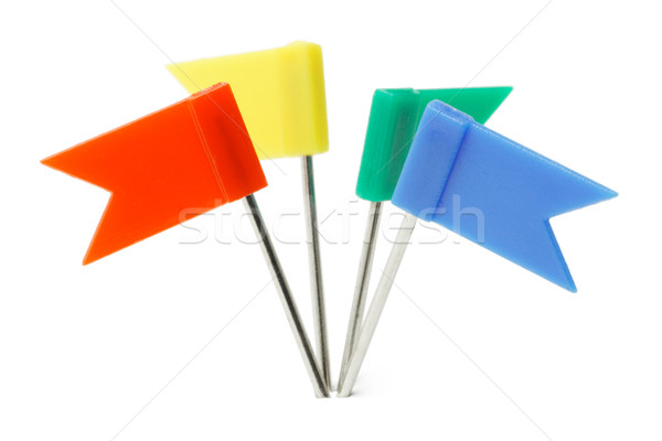 Multicolor plastic flag pins  Stock photo © dezign56