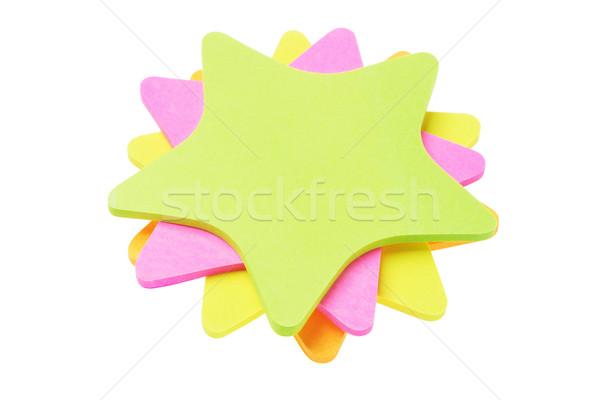 красочный звездой форма бумаги Сток-фото © dezign56