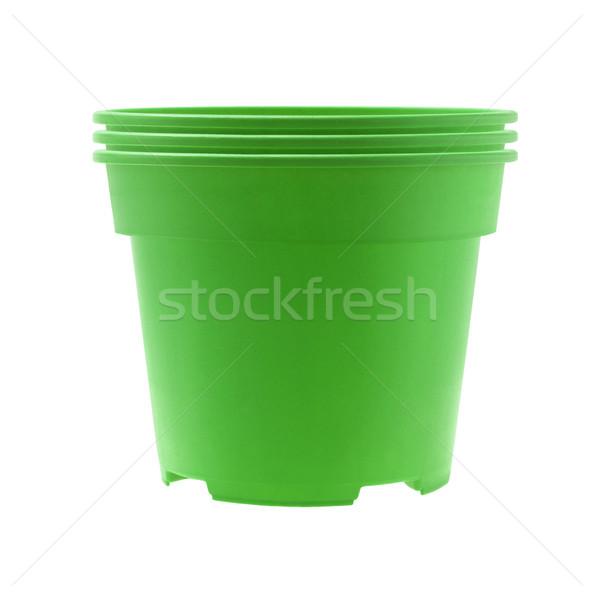 Plastic Flower Pots  Stock photo © dezign56