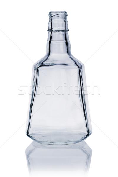 пусто виски бутылку белый стекла алкоголя Сток-фото © dezign56