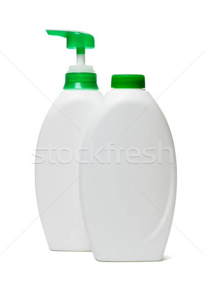 Műanyag üvegek folyadék szappan fehér zuhany Stock fotó © dezign56