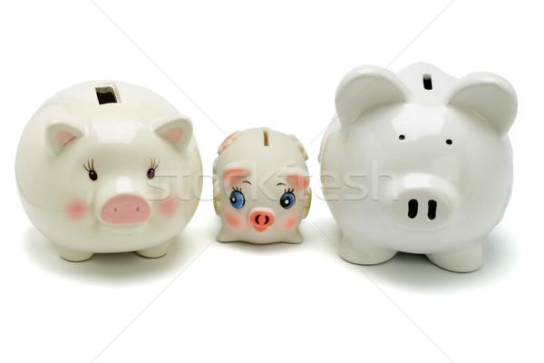 Family of piggy banks Stock photo © dezign56