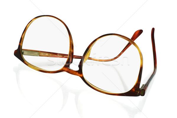 Ramki plastikowe okulary starych moda Zdjęcia stock © dezign56