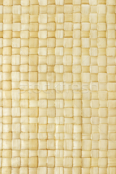 Close up of woven palm leaves mat Stock photo © dezign56
