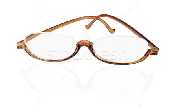 öreg divat szemüveg műanyag fehér üveg Stock fotó © dezign56