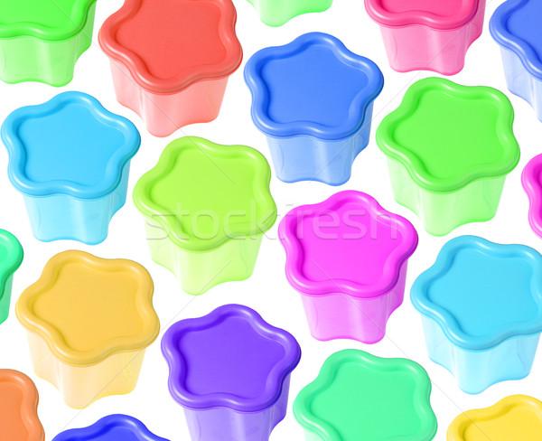Biçim plastik renkli dizayn grup Stok fotoğraf © dezign56
