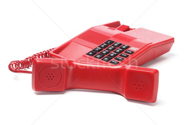 красный телефон белый дизайна цвета Vintage Сток-фото © dezign56