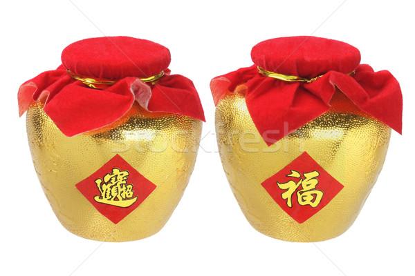 золото Китайский Новый год украшения хорошие красный китайский Сток-фото © dezign56
