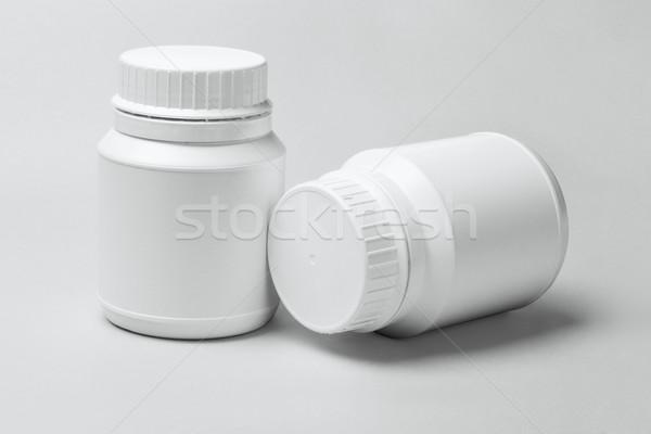 Stok fotoğraf: Iki · beyaz · plastik · tıp · grup