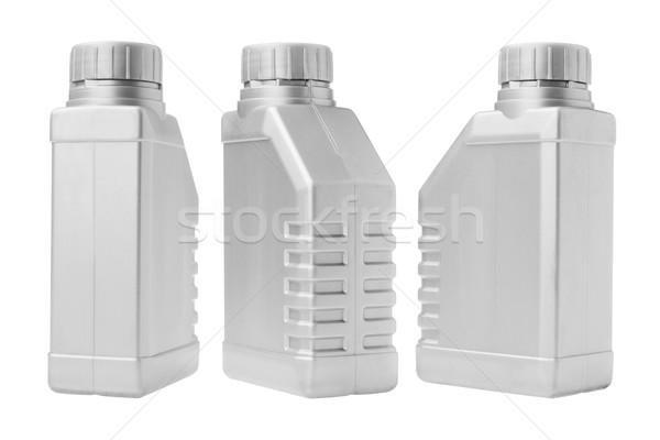 Drie plastic industriële kleur motor object Stockfoto © dezign56