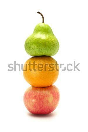 リンゴ オレンジ 梨 スタック 白 食品 ストックフォト © dezign56