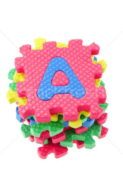 алфавит головоломки блоки Top мнение Сток-фото © dezign56