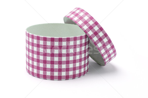 Open red chequer gift box Stock photo © dezign56