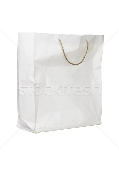 Starego papieru worek starych używany torby papierowe biały Zdjęcia stock © dezign56