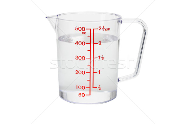 Plastic kitchen measuring cup filled with water Stock photo © dezign56