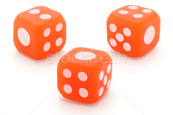 Three rubber dice Stock photo © dezign56