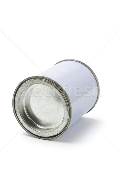 Sealed white tin can Stock photo © dezign56