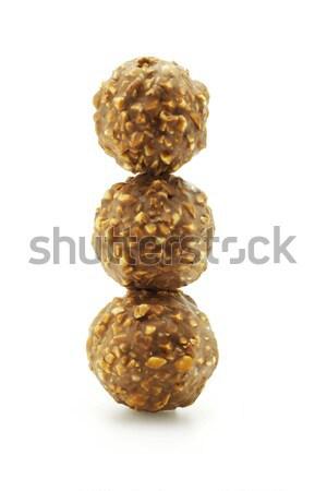шоколадом гайка белый конфеты Сток-фото © dezign56