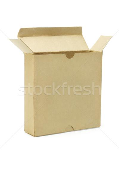 открытых бумаги окна грубая оберточная бумага белый подарок Сток-фото © dezign56