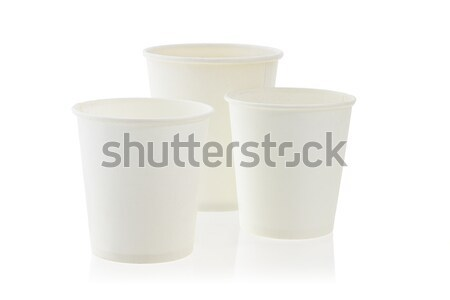 Three disposable paper cups Stock photo © dezign56