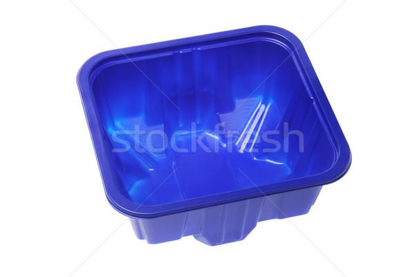 пусто контейнера синий белый окна Сток-фото © dezign56