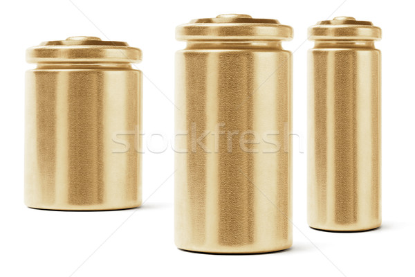 Three Gold Color Batteries Stock photo © dezign56